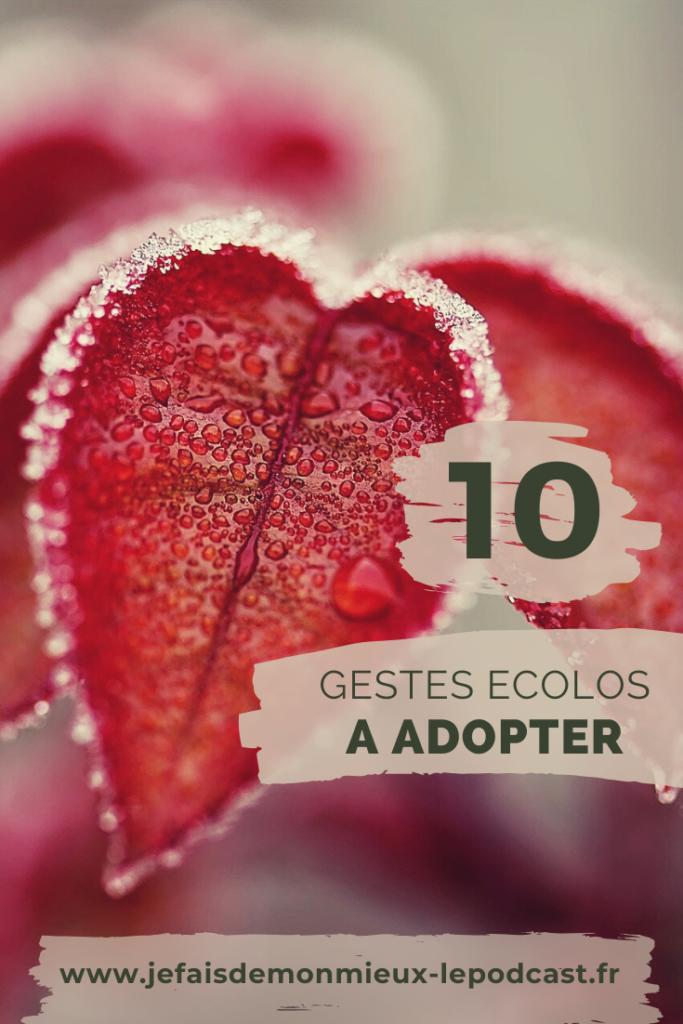 10 gestes écolos à adopter